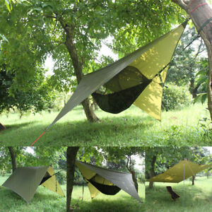 Image is loading Portable-C&ing-Hanging-Hammock-Tree-House-Tent-Outdoor- & Portable Camping Hanging Hammock Tree House Tent Outdoor ...