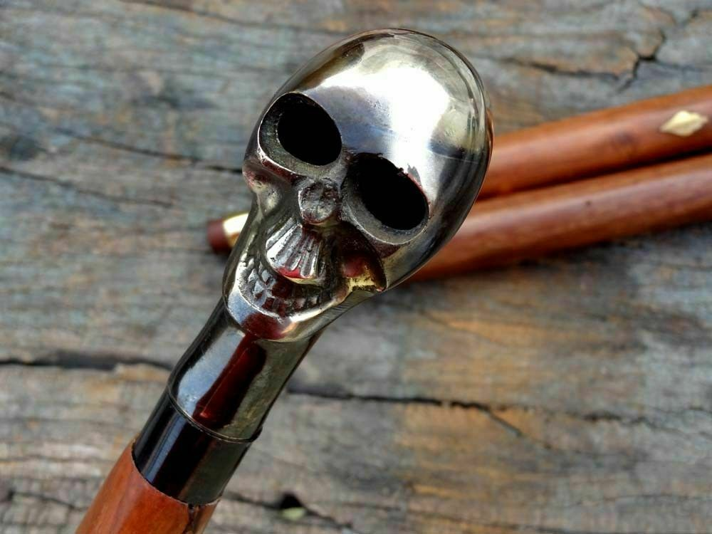 Voodoo Walking Cane Wooden Stick Antique / FatherDay Prop Gift Unisex Men/Women