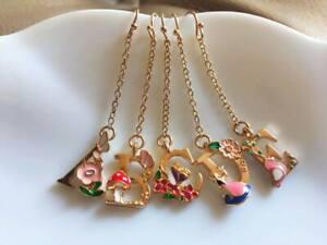 E1001-Betsey-Johnson-Leaves-Floral-Flower-Mushroom-Letters-Alphabet-Earrings-UK
