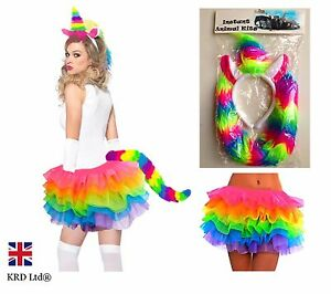 ladies magical rainbow unicorn tutu costume halloween. Black Bedroom Furniture Sets. Home Design Ideas