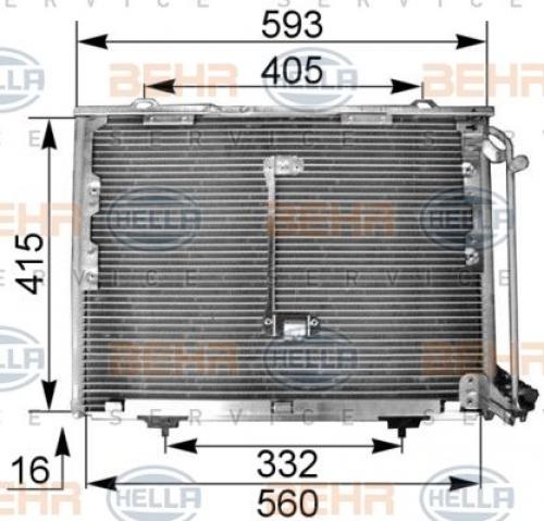 Kondensator, Klimaanlage für Klimaanlage HELLA 8FC 351 036-014