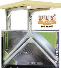 DIY Crafts®2Pair Corner Brace Right Angle Shelf Bracket L Shape Hardware Coatedo