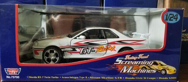 MOTOR MAX 1:24 SCALE SCREAMING MACHINES NISSAN SKYLINE GTR ...