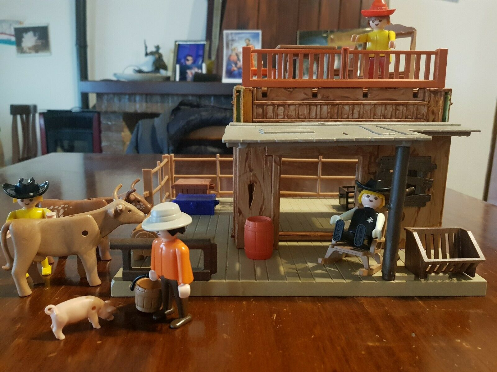 Playmobil Western Set Raro Sheriff House Ranch