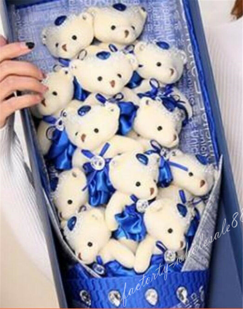 12pcs Teddy Bear Plush Soft Toys Doll Flowers Gift With With With Box Christmas Birthday 1182ed