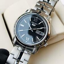 Seiko 5 Classic Men's Size Black Dial Stainless Steel Strap Watch