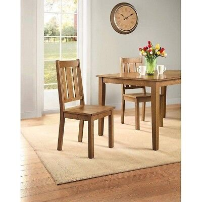 Dining Room Chairs Chair Kitchen 2 Set Solid Wood Farmhouse Mission Heavy  Duty | eBay
