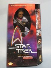 "STAR TREK LT. CMDR. WORF 12"" DELUXE ACTION FIGURE! NM! 50TH ANNIVERSARY!"