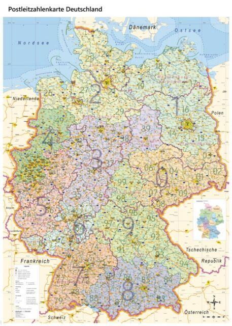 Nobo Plz Deutschlandkarte Magnethaftend Postleitzahlenkarte