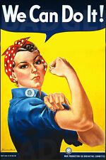 WE CAN DO IT! LARGE fridge magnet -ROSIE THE RIVETER!
