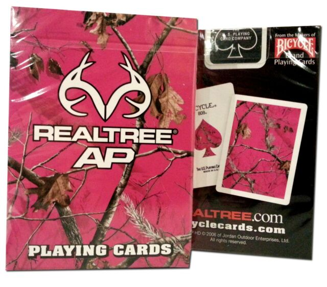 Realtree Pink Camouflage Bicycle Playing Cards Outdoor Hunting Deer Hunt New AP