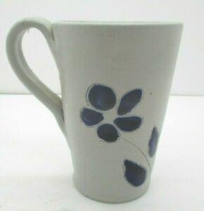 Williamsburg Pottery Salt Glazed Stoneware Cup Cobalt Blue