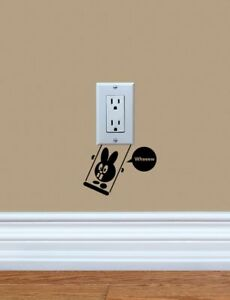 Mouse Swinging Cute Funny Vinyl Decal Sticker For Light Switch Our - Vinyl-decals-to-decorate-light-switches-and-outlets