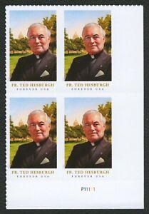 #5241 Padre Theodore Hesburgh, Placa Bloque [P11111 LR ] Cualquier 5=