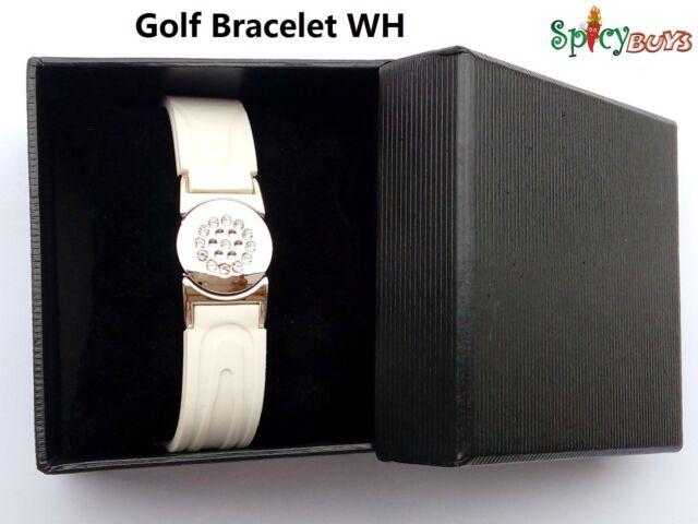 Power Golf Magnetic Titanium Bracelet White w/ Detachable Ball Marker great gift