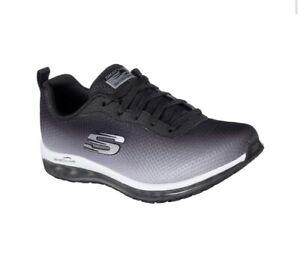 Skechers-Donna-Skech-Air-elemento-Scarpe-Colore-Nero-UK-4-5-US-7-5