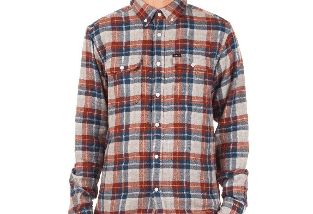 MATIX Garrison Flannel Shirt (L) Natural