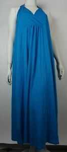 Details about Old Navy Women\'s Plus Size 2X Maxi Dress Halter Blue