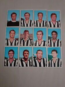 calciatori panini LOTTO 1965/66 JUVENTUS 12 FIGURINE MINT ORIGINALI EDICOLA
