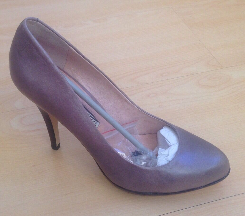 Brand New Light grau Leather High Heels Buffalo London UK 5