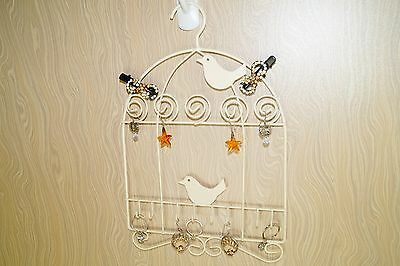 Mini Bird Jewelry Hanging Organizer Earrings Necklace Ring Ornament Holder