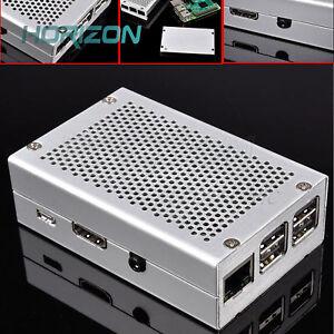 LEGA-di-alluminio-metallo-Caso-Shell-RPI-Box-Kit-per-Raspberry-Pi-3-Pi-2-e-B