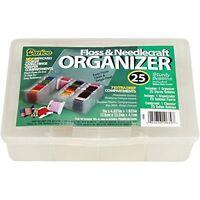 Darice Mini Floss Organizer 7x4.625x1.625 7 Hole 25 Cardboard Bobbins