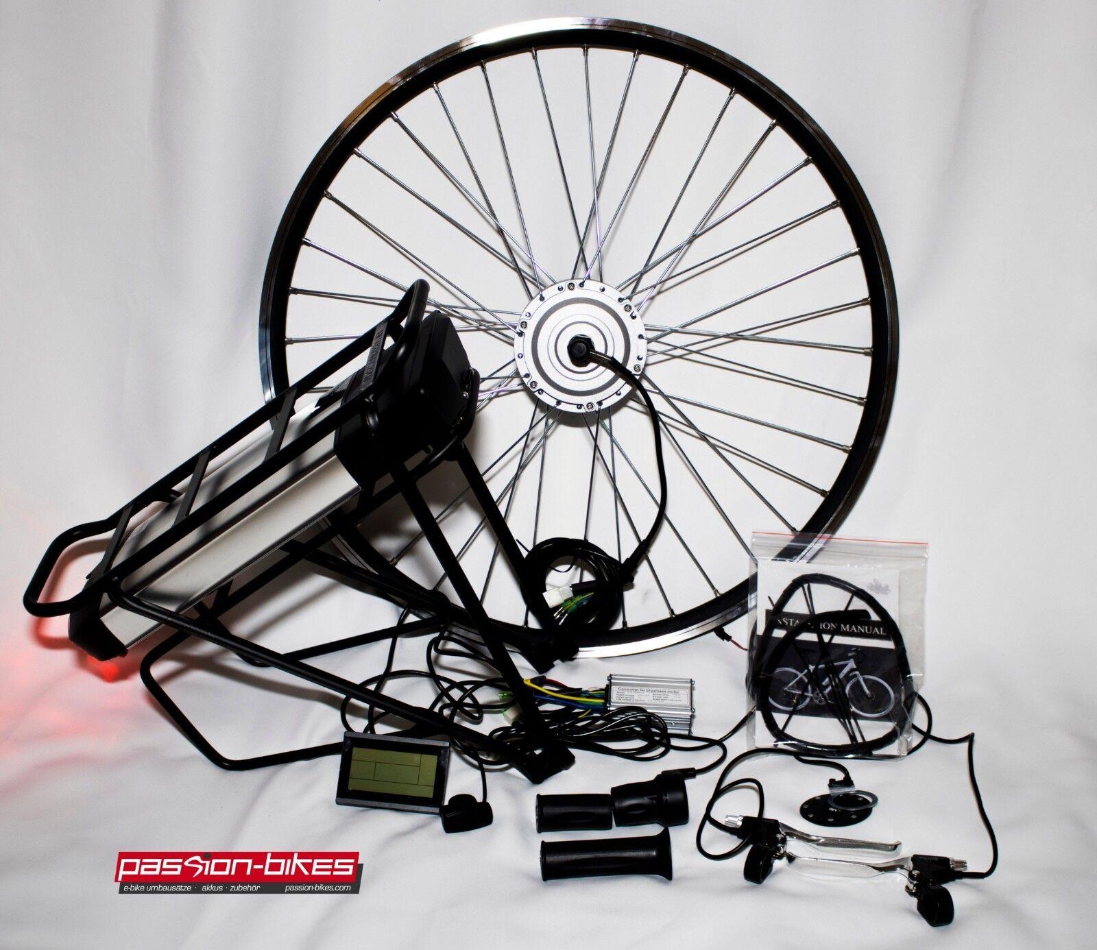 E-bike Pedelec  250 W Front completo conjunto de transformación kit  portaequipajes bateria 36v