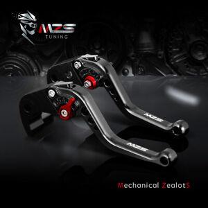 MZS Short Brake Clutch Levers for Yamaha FZ-10//MT-10 2016-2018,FJ-09//MT-09 Tracer 2015-2018 Black