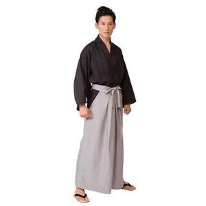 Japanese-Men-039-s-Samurai-Costume-Jacket-Hakama-Set-H180cm-From-Japan-with-Tracking