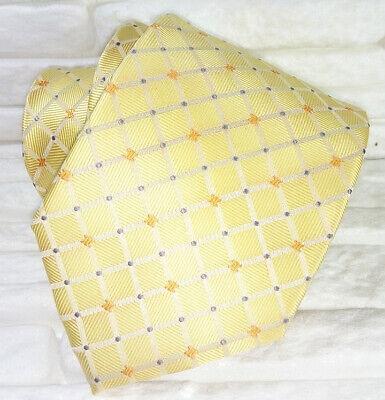 Cravatta Uomo Oro Arancio Blu 100% Seta Made In Italy Matrimoni Business Rp € 39 Il Consumo Regolare Di Tè Migliora La Salute