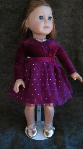 FANCY GOLDEN DRESS SHOES FITS AMERICAN GIRL OUR GENERATION