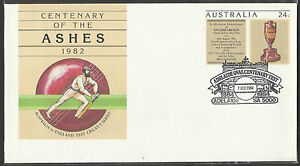 AUSTRALIA-ASHES-1982-CRICKET-PSE-Pre-Stamped-ADELAIDE-OVAL-Pmk-7-12-84