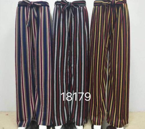 WOMEN/'S Pleated Wide Leg Palazzo Culotte Trouser Flared High Waist Harem Pants