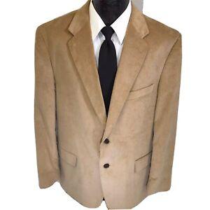 Stafford-Men-039-s-Beige-Brown-Sport-Coat-CLASSIC-CORDUROY-Jacket-Cotton-Blazer-44-R