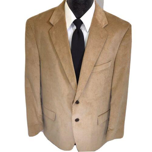 Stafford Men's Beige Brown Sport Coat CLASSIC CORD