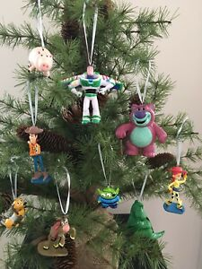9 Disney Toy Story Christmas Tree Decoration Small Figures Buzz