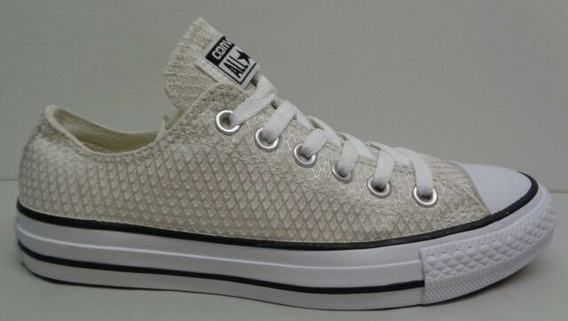 Converse All Star Size 9 SNAKE WOVEN OX White Fashion Sneakers New Womens  Shoes 4e4d4fddc