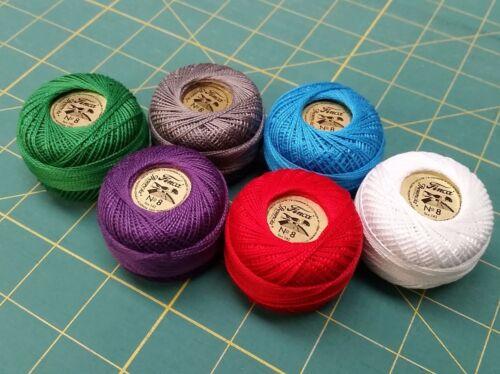 Egyptian Cotton Orange Red 1163-10g Ball Presencia Finca Perle No.8 Thread