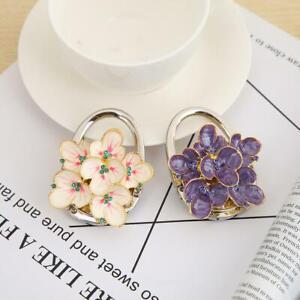 Flower-Shape-Metal-Foldable-Bag-Hook-Handbag-Holder-Purse-Hanger-Desk-Hooks-Tool