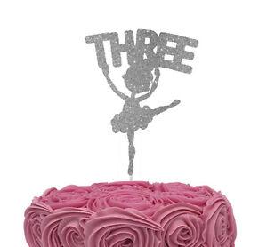Image Is Loading Ballerina Number Three 3rd Birthday Ballet Cake Topper
