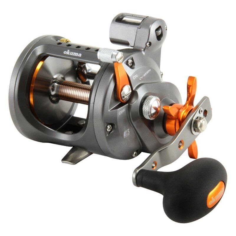 New Okuma Cold Water Trolling Reel with Line Counter 4.2:1 CW-453D