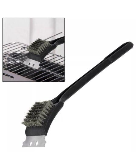 Barbecue BBQ Cleaning Brush Heavy Duty Steel Scraper Brass Bristles Grill Brush