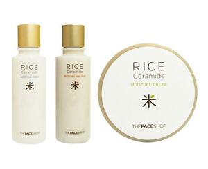 [THE FACE SHOP] Riceu0026Ceramide Moisture Toner/Emulsion/Cream Set Korean Skin Care | EBay