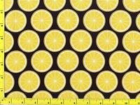 Lemon Slices On Black By The Yard Cfofru08155