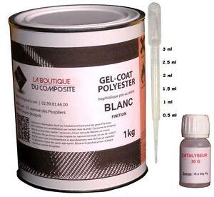 1kg-de-GEL-COAT-POLYESTER-MARINE-ISO-BLANC-catalyseur-amp-pipette-doseuse