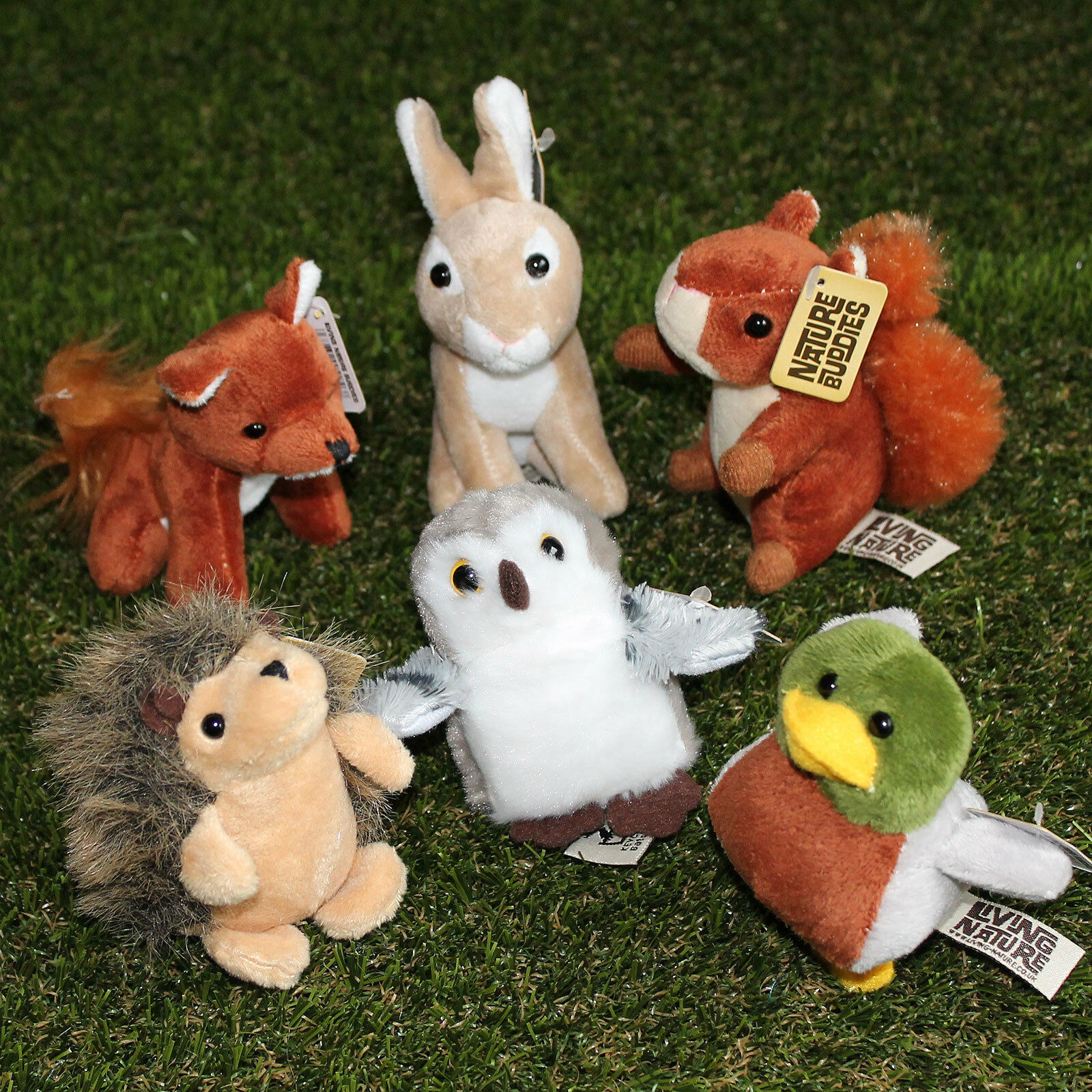 Living Nature Mini Bean Nature Buddies Woodland Animals Small Soft Toys