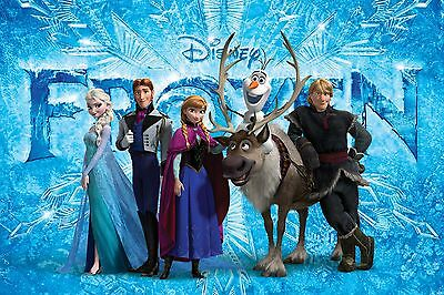 Disney Frozen Characters A4 or A3 Glossy or Satin Photo Wall Art Print