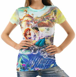 Little-Mermaid-Womens-T-Shirt-Tee-S-M-L-XL-2XL-New
