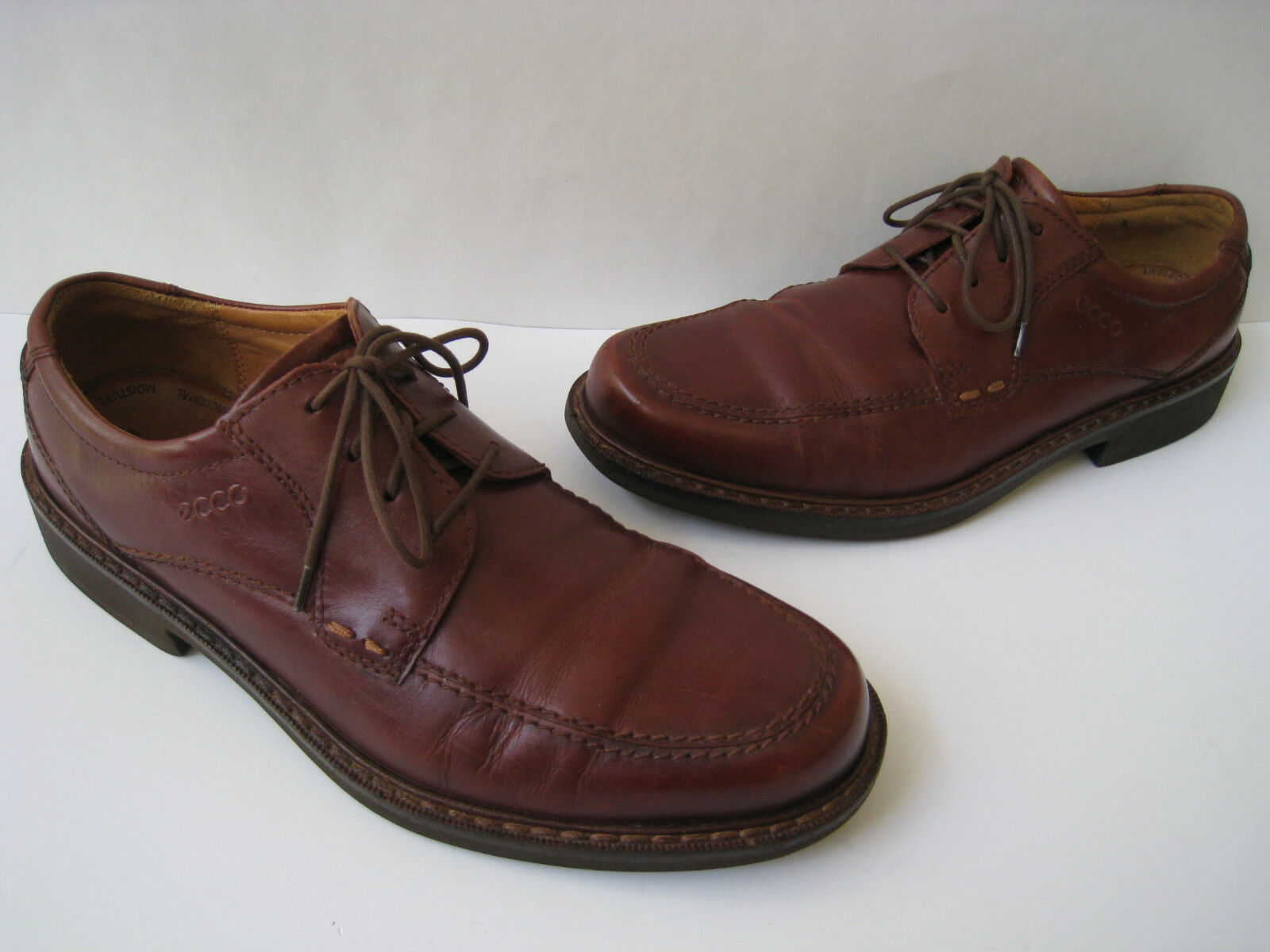 1f88bb7dd7d8 ECCO ECCO ECCO CHESTNUT VEGETABLE TANNED LEATHER OXFORDS MEN SIZE US 8-8.5  NICE 278a8c